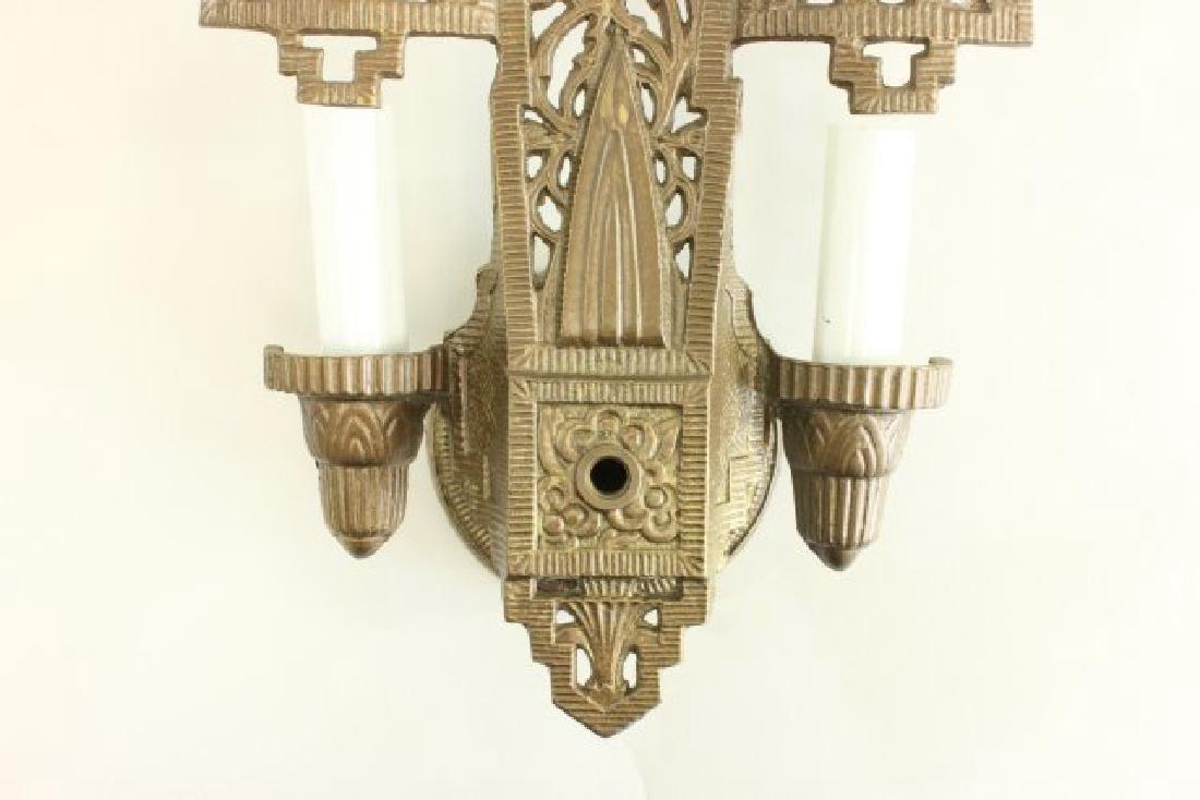 4 Art Deco 2-Light Sconces - 4