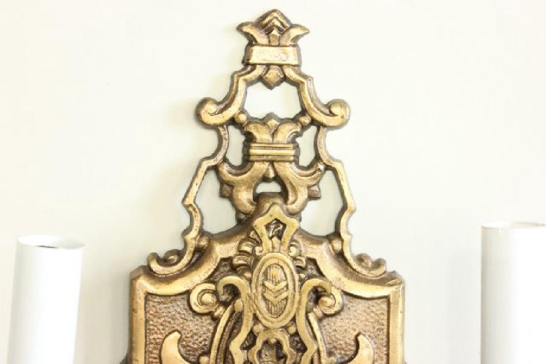 Pair Bronze 2-Arm Art Deco Sconces - 4