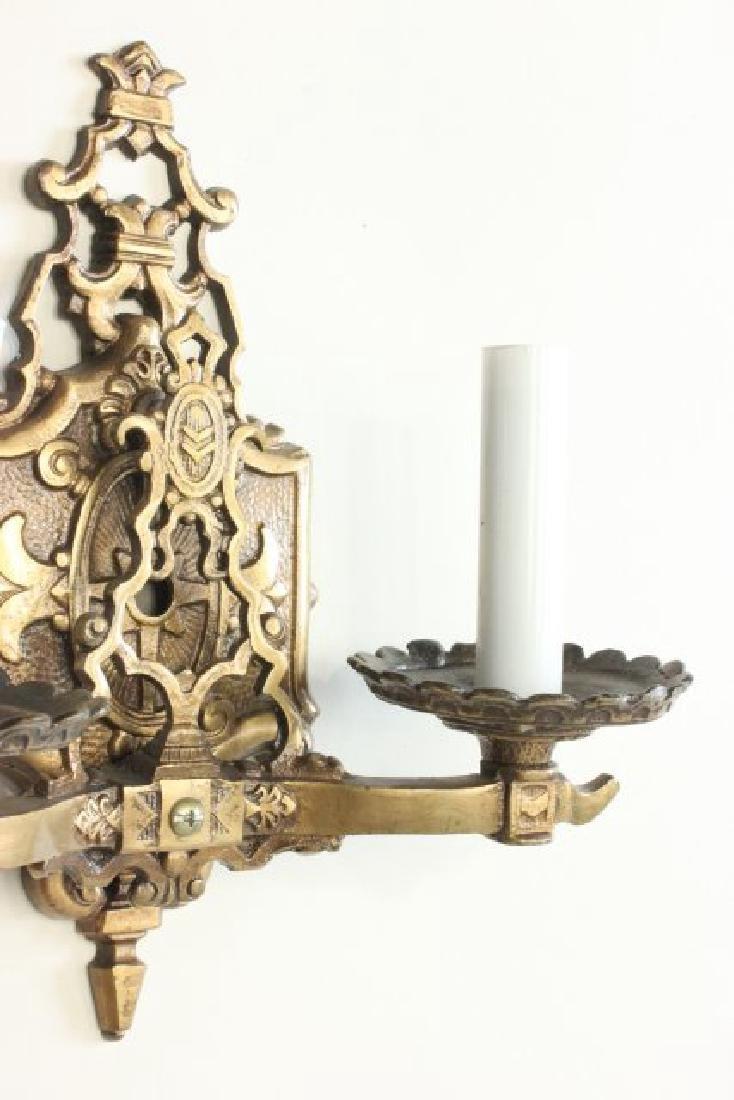 Pair Bronze 2-Arm Art Deco Sconces - 6