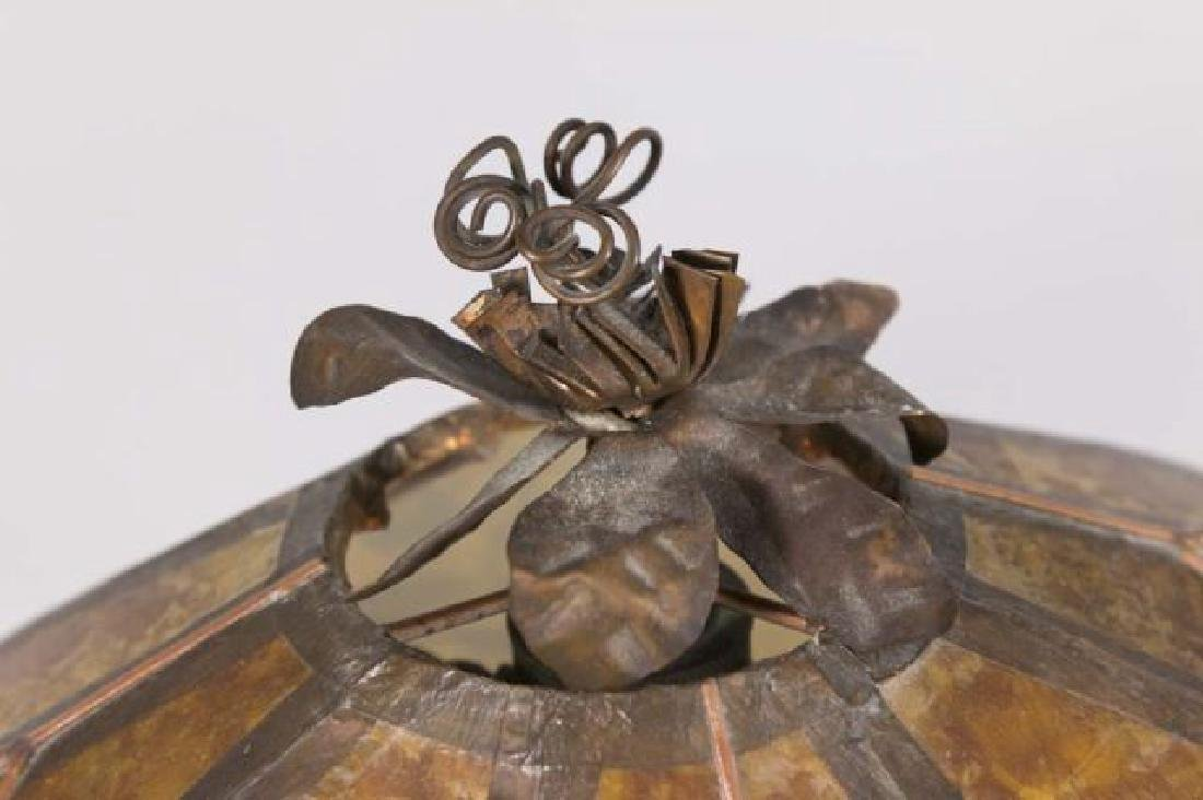 :Hand Hammered Arts & Crafts Copper Clad Lamp Base - 3