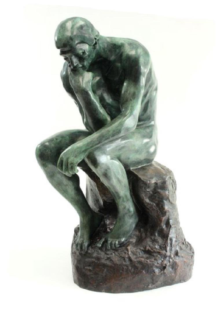 """After Auguste Rodin, """"The Thinker"""""""