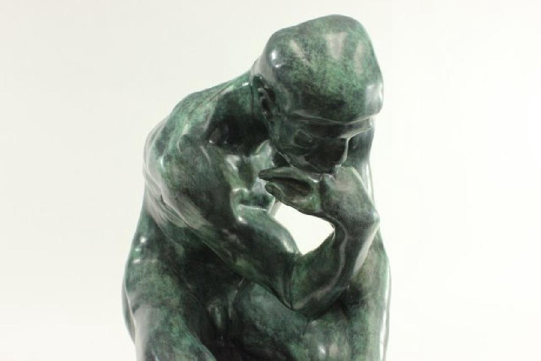 """After Auguste Rodin, """"The Thinker"""" - 4"""