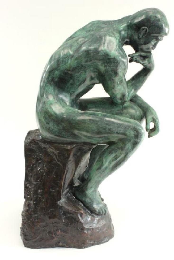 """After Auguste Rodin, """"The Thinker"""" - 5"""