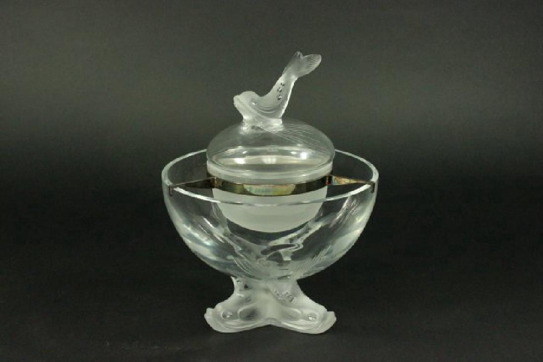 Lalique Crystal Igor Caviar Server
