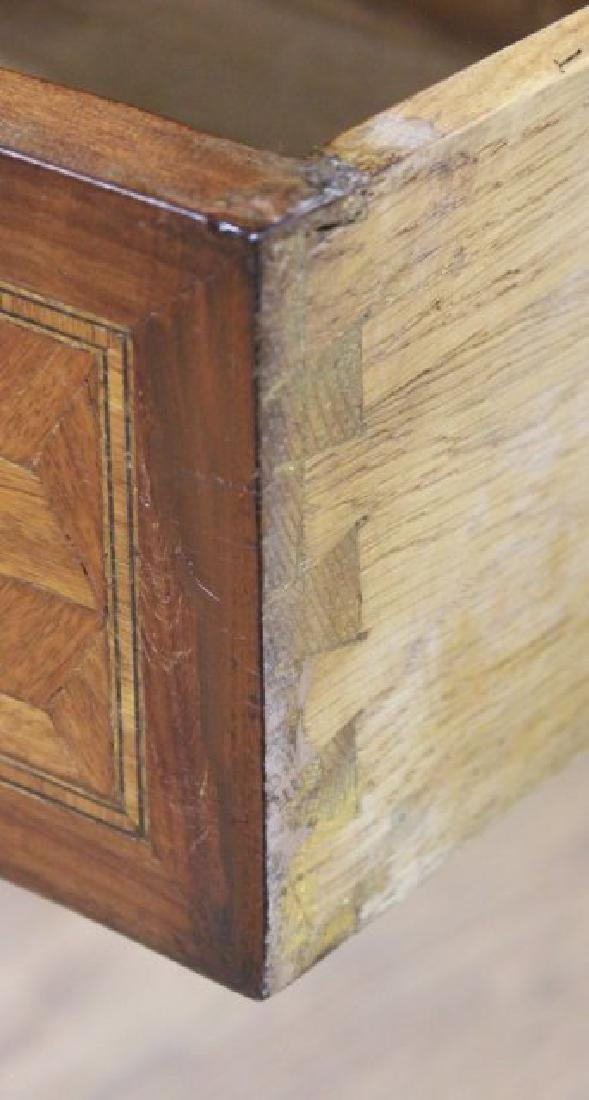 Pair French Inlaid Marble Top 2-Drawer - 8