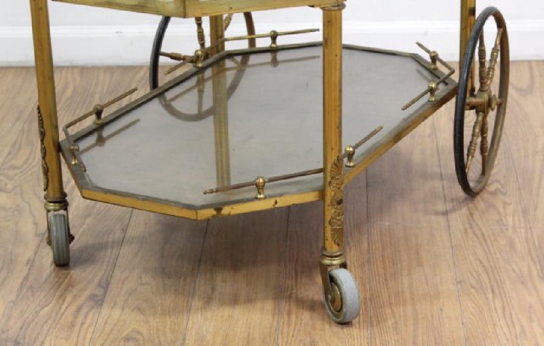 :Brass & Glass Drop-Side Teacart - 4