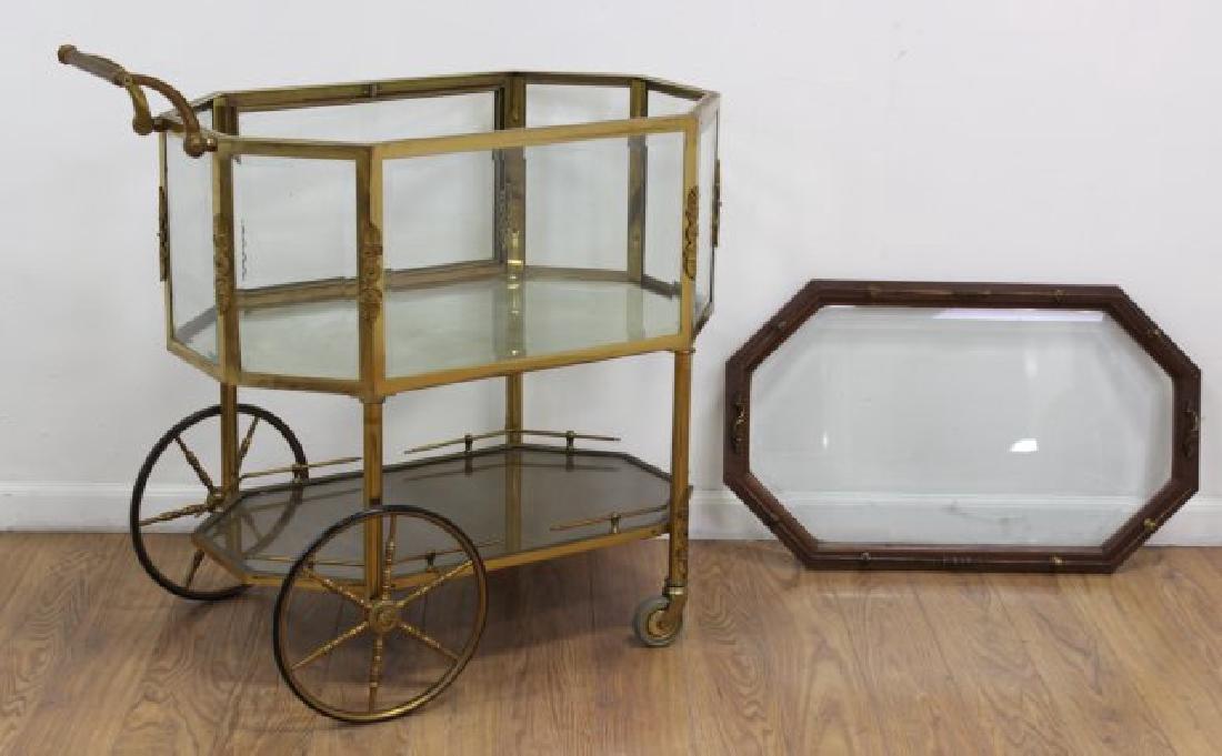 :Brass & Glass Drop-Side Teacart - 5