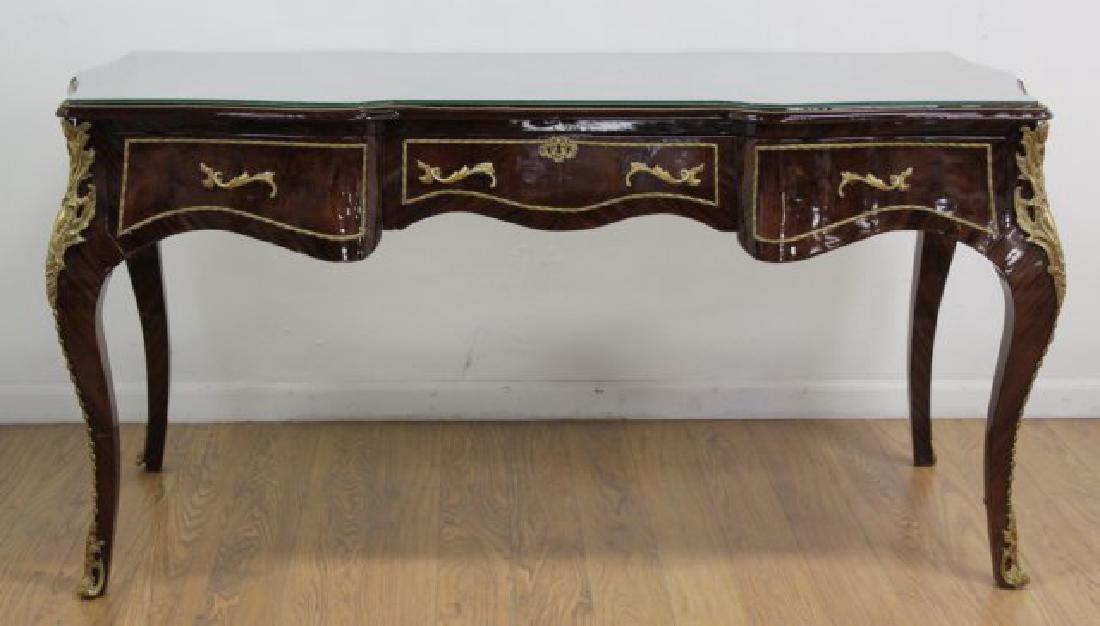 Louis XV Style 3-Drawer Executive Desk