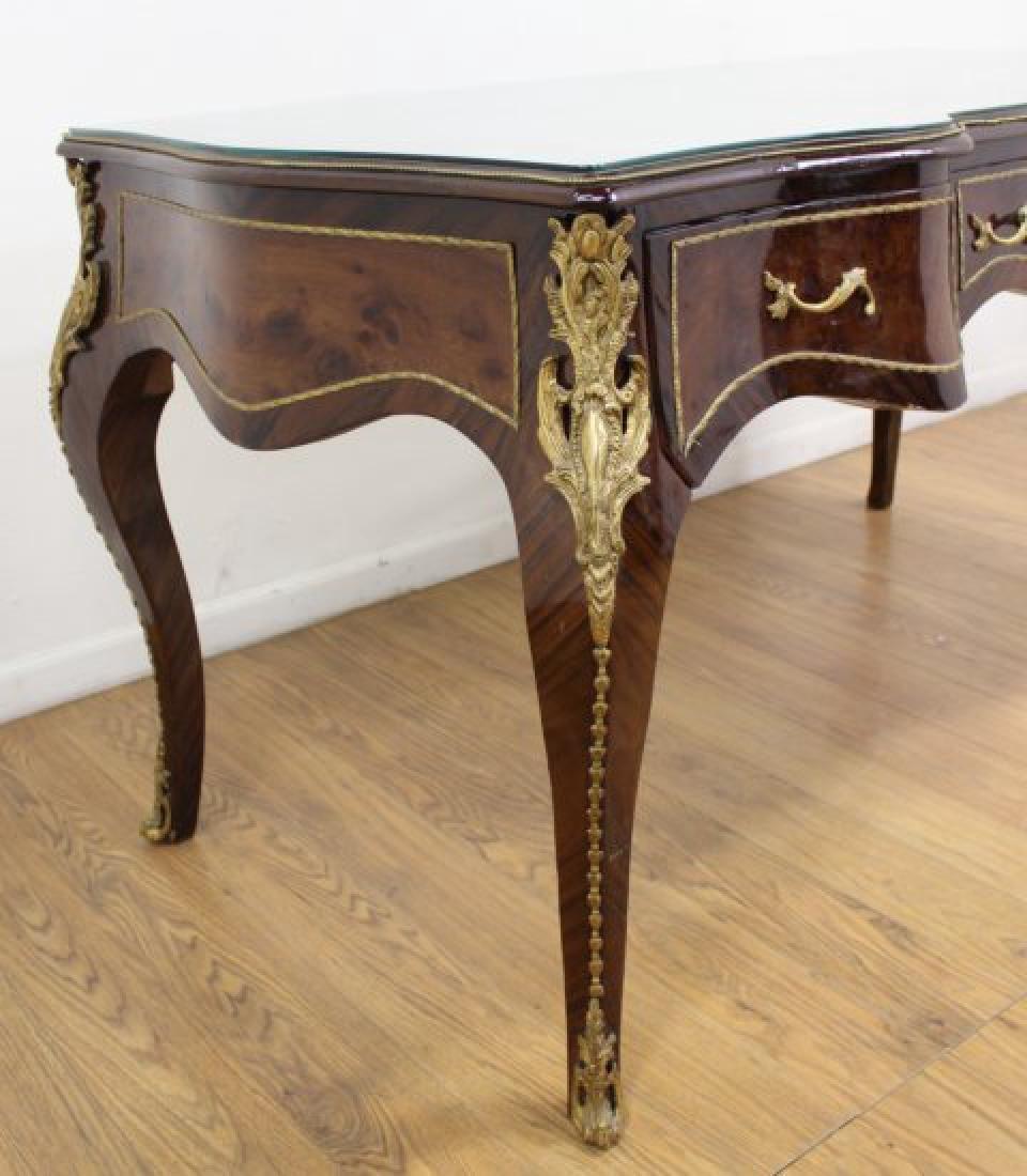 Louis XV Style 3-Drawer Executive Desk - 6