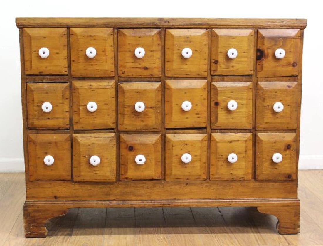American Colonial Pine Apothecary Chest