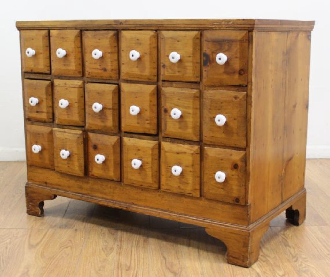 American Colonial Pine Apothecary Chest - 2