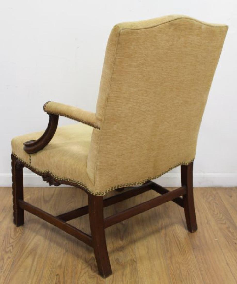 Pair George III Style Mahogany Library Armchairs - 7