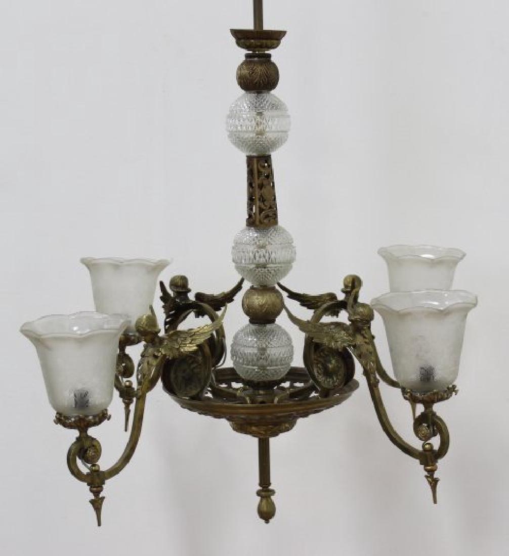 Belle Epoque Style 4-Light Chandelier