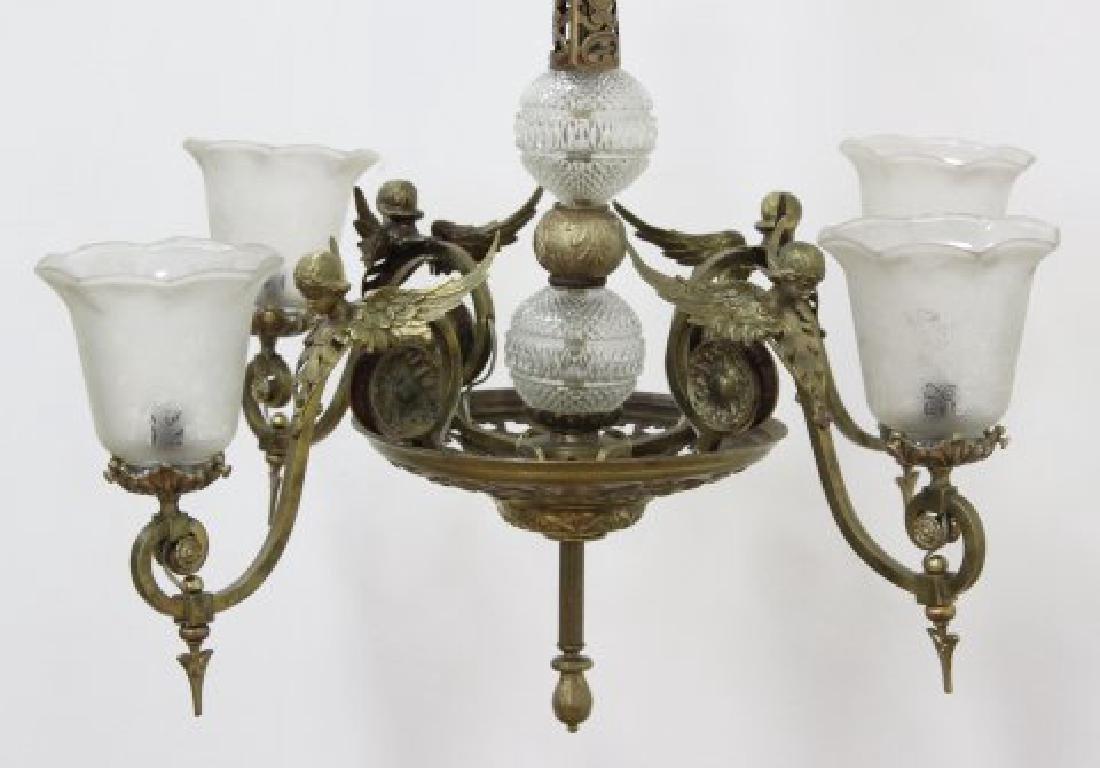 Belle Epoque Style 4-Light Chandelier - 2