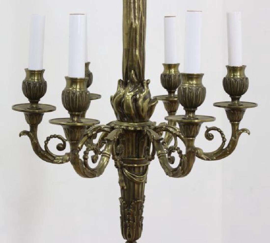 Louis XVI Style Brass 6-Light Chandelier - 2