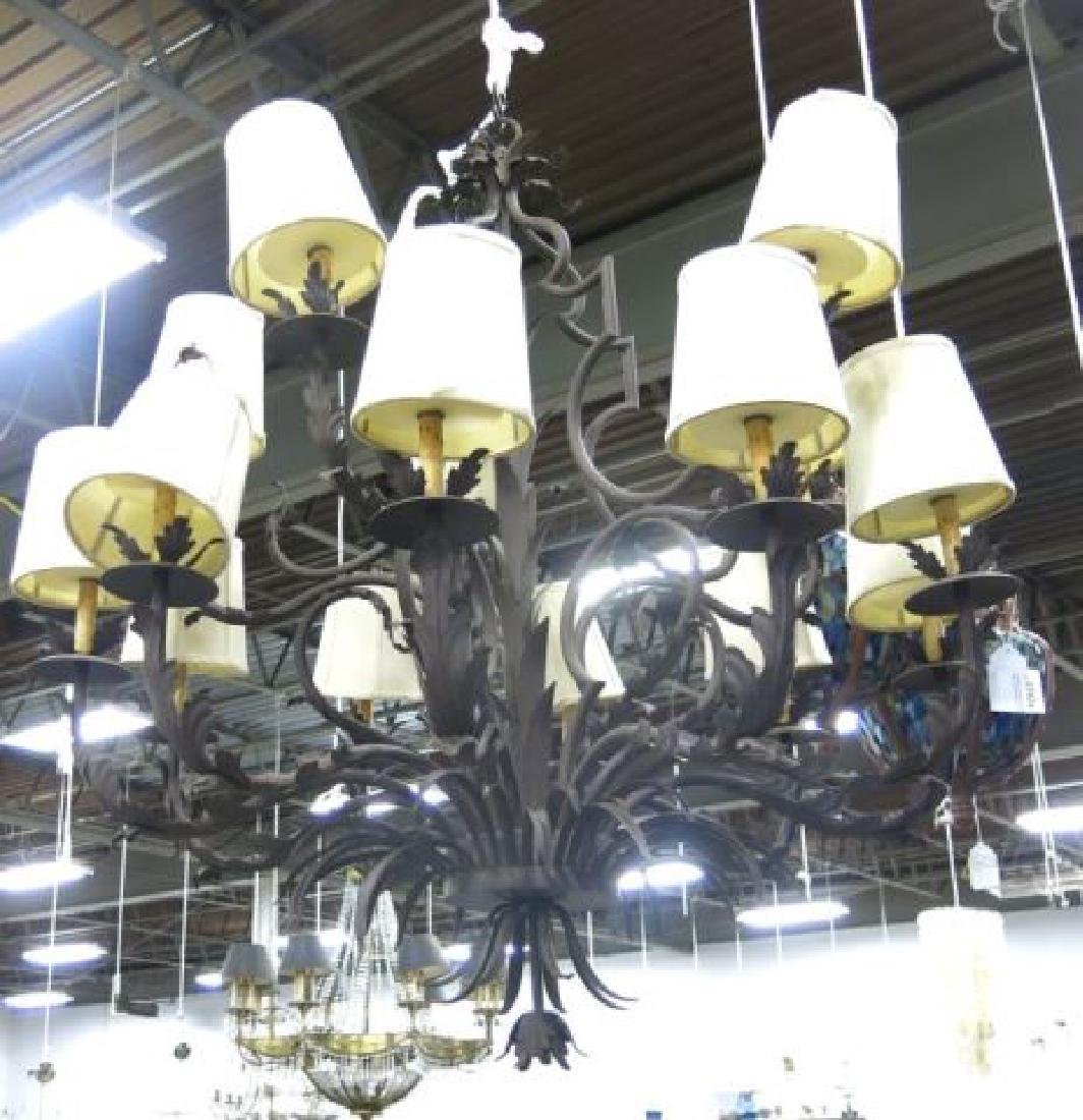 :Hans Duus Chandelier with Shade