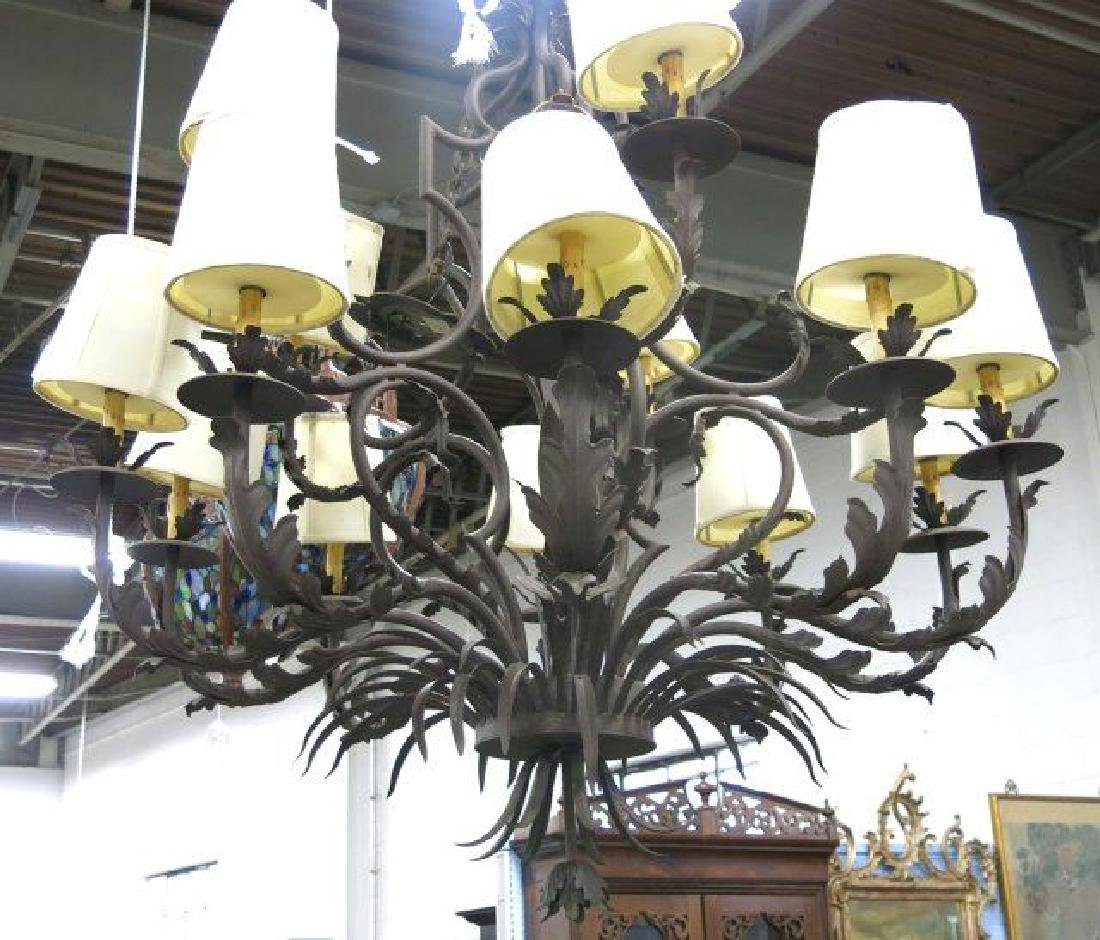 :Hans Duus Chandelier with Shade - 2