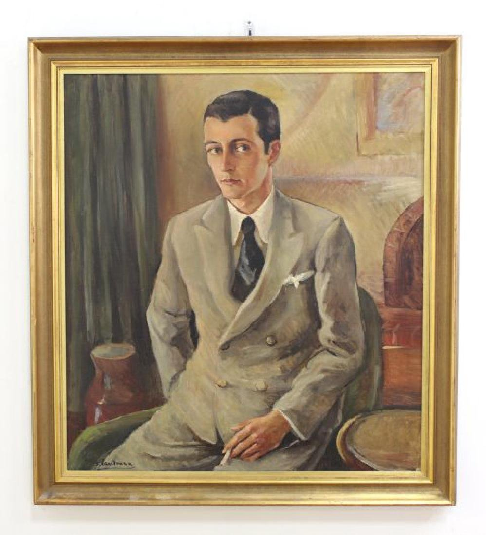 Sidney Laufman, Portrait of Leonard Sillman - 2