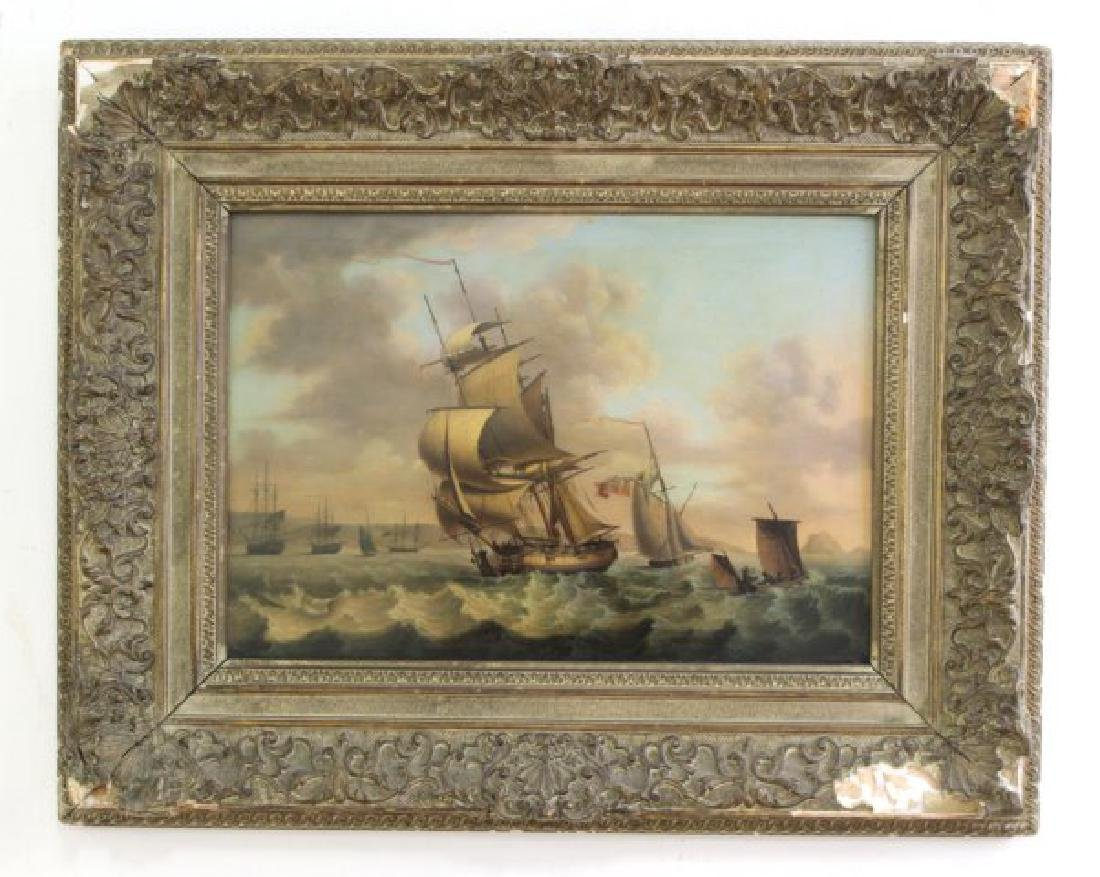 British Seascape with Sailing Ships - 2
