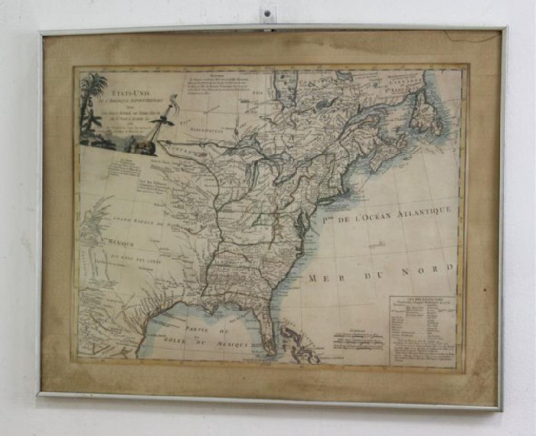 E.F. Delamarche,  French Framed Map