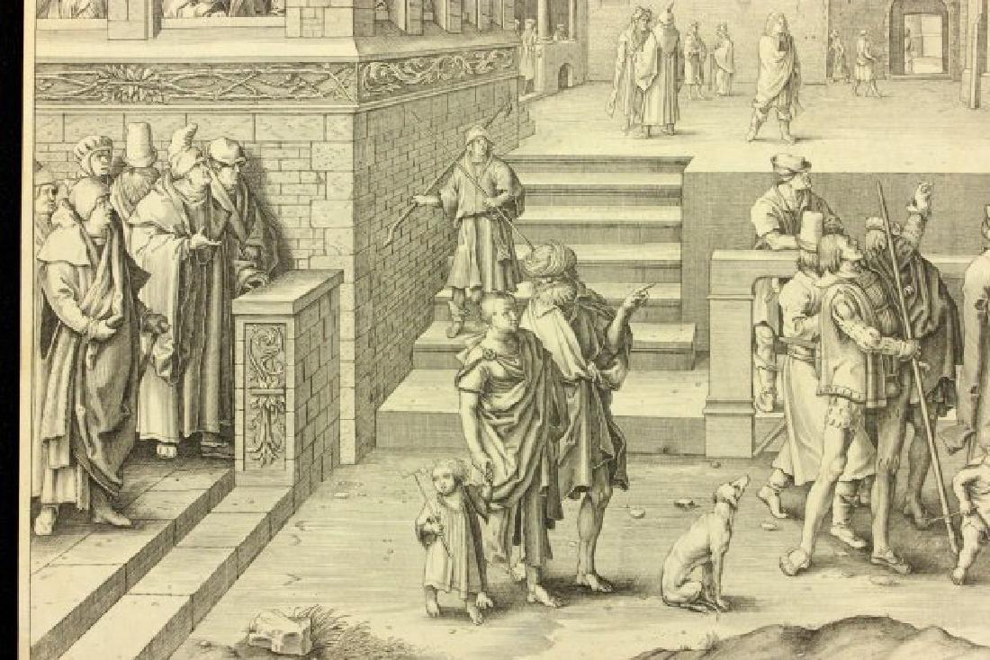 Lucas Van Leyden, Ecce Homo Engraving - 6
