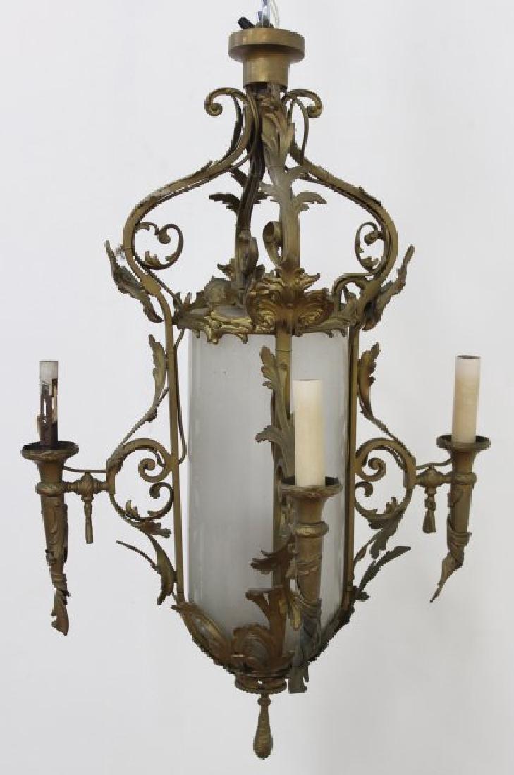 Louis XV Style Brass 5-Light Chandelier