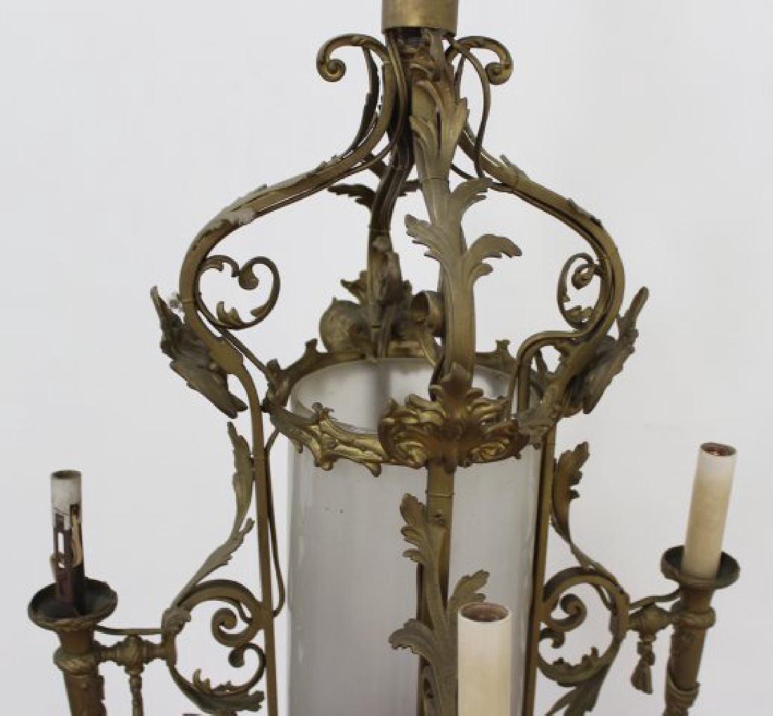 Louis XV Style Brass 5-Light Chandelier - 2