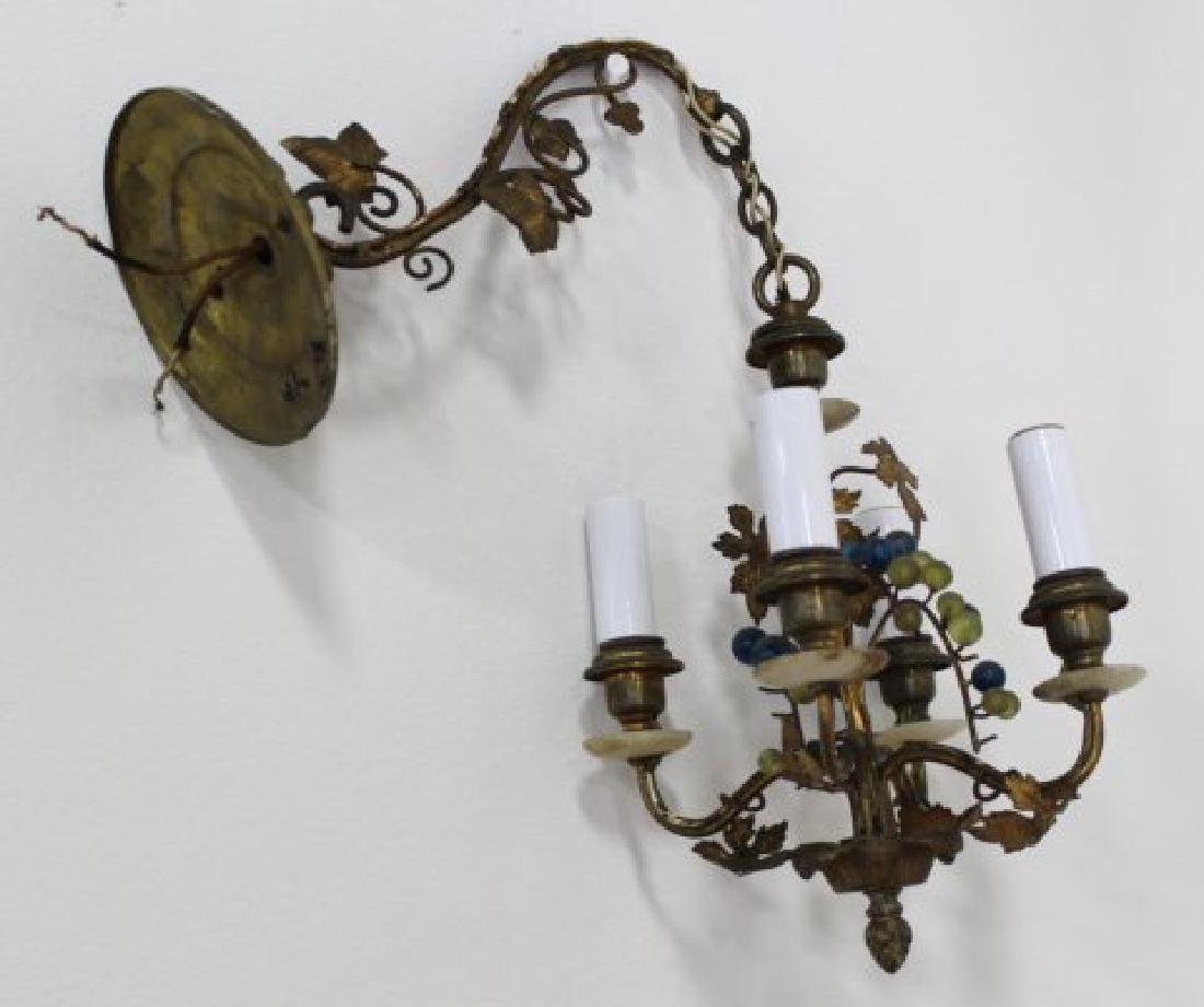 Rococo Style Porcelain & Metal Chandelier - 3