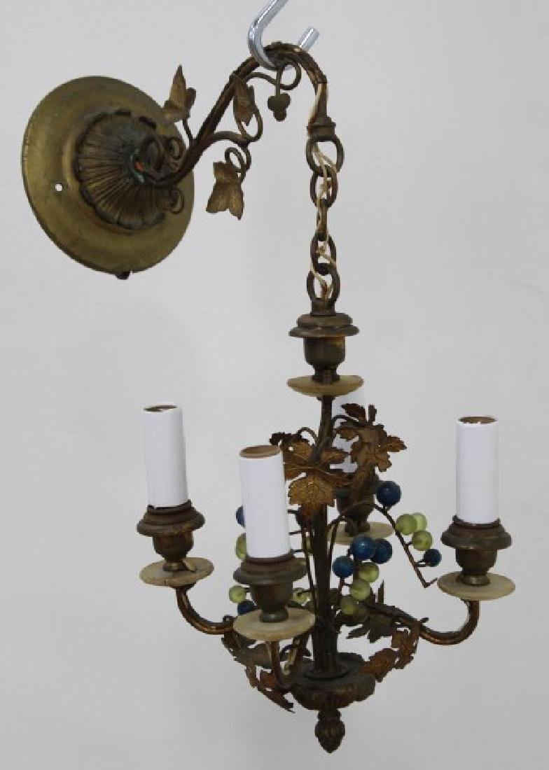 Rococo Style Porcelain & Metal Chandelier - 5