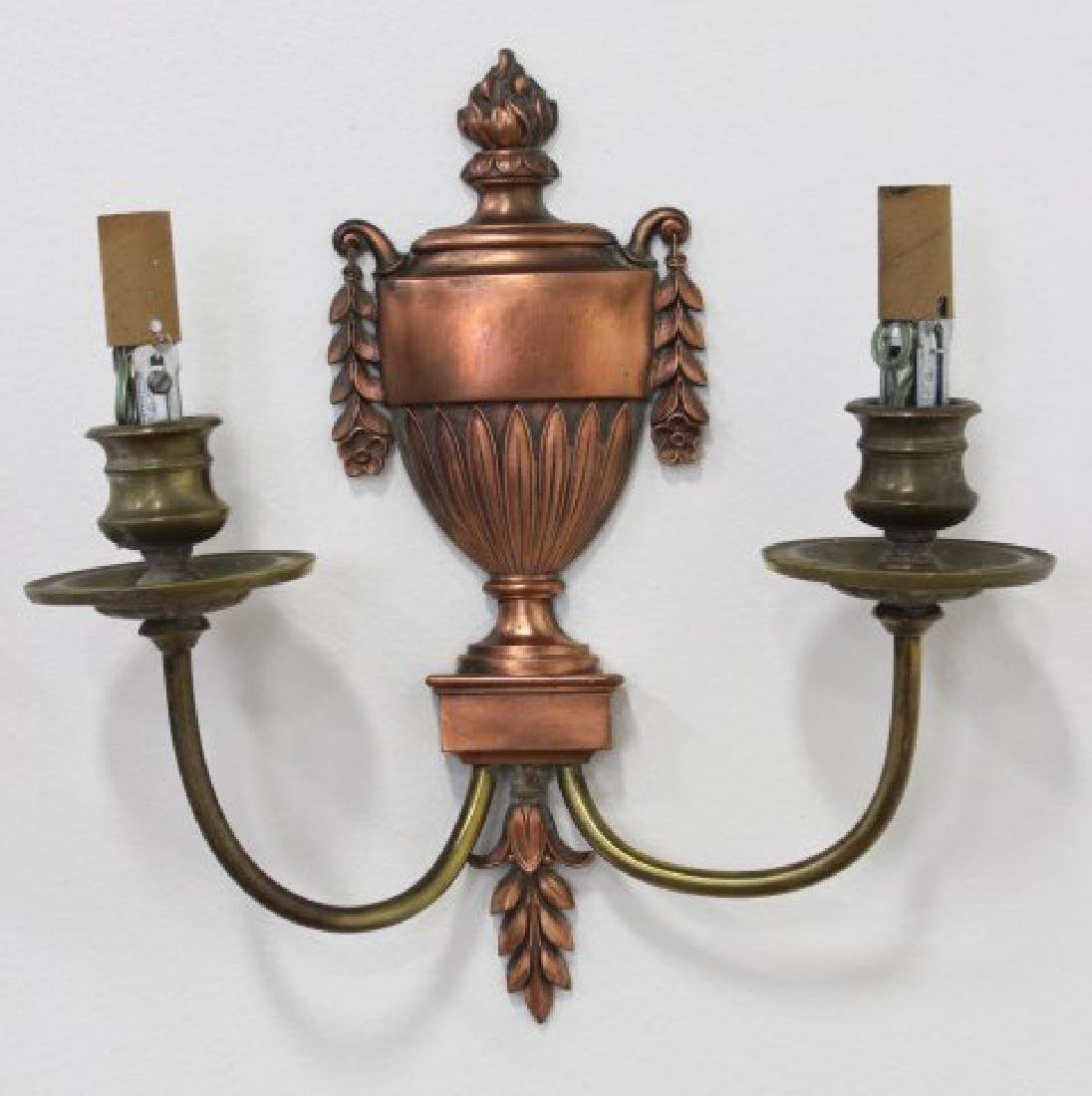 Pair Caldwell Bronze 2-Light Sconces - 2