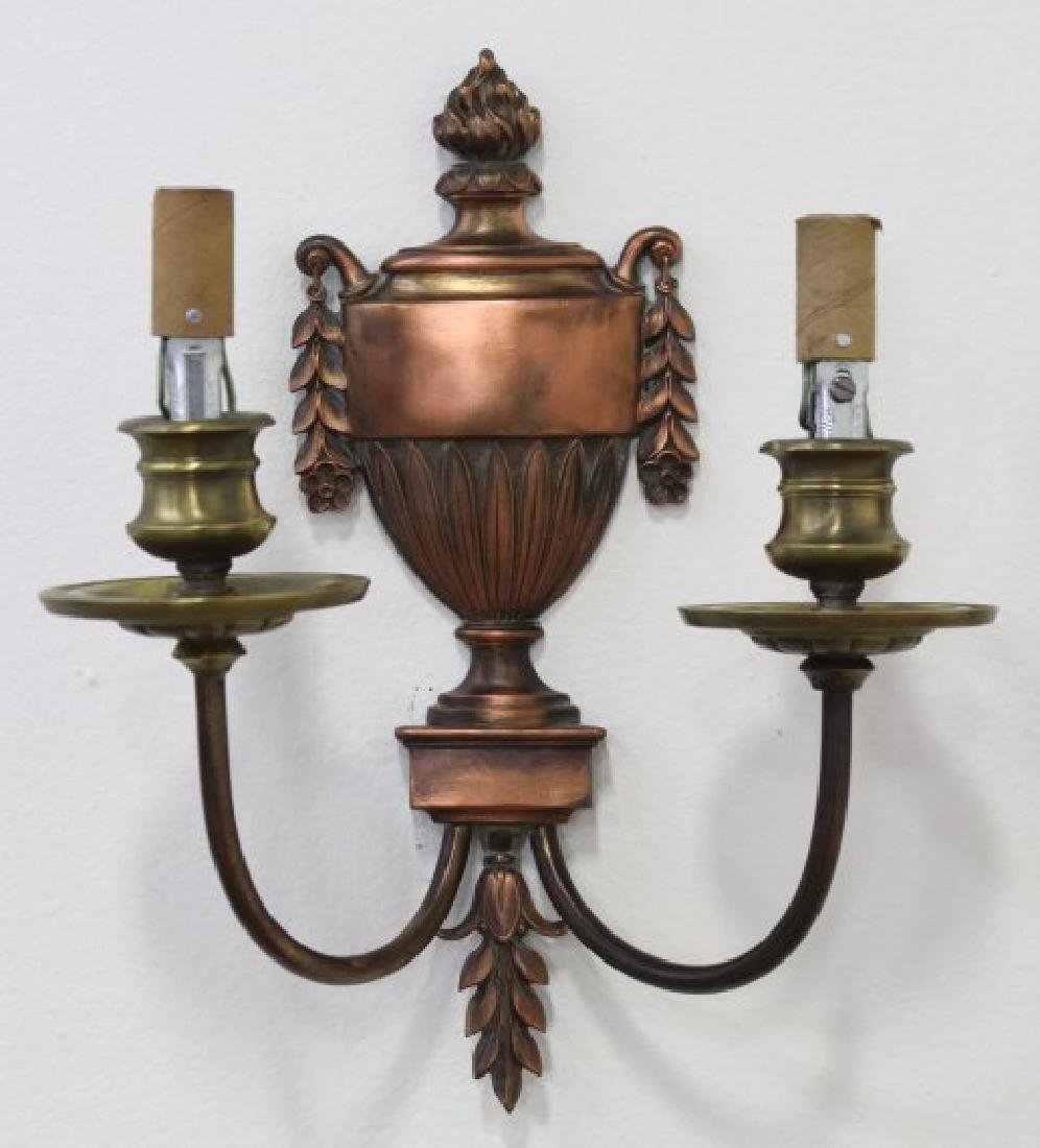 Pair Caldwell Bronze 2-Light Sconces - 3
