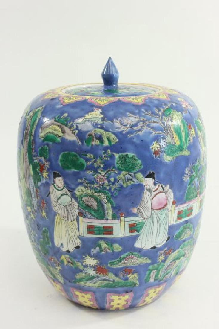 Pair Chinese Porcelain Ginger Jars with Covers - 8