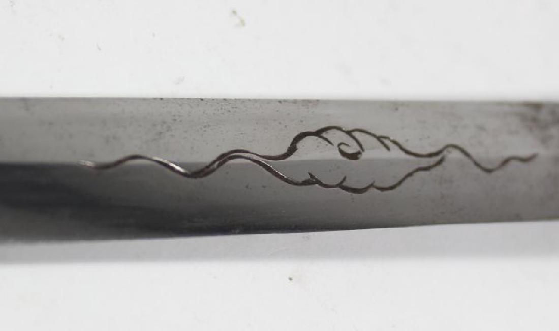 Japanese Double Edge Bronze Dagger - 9