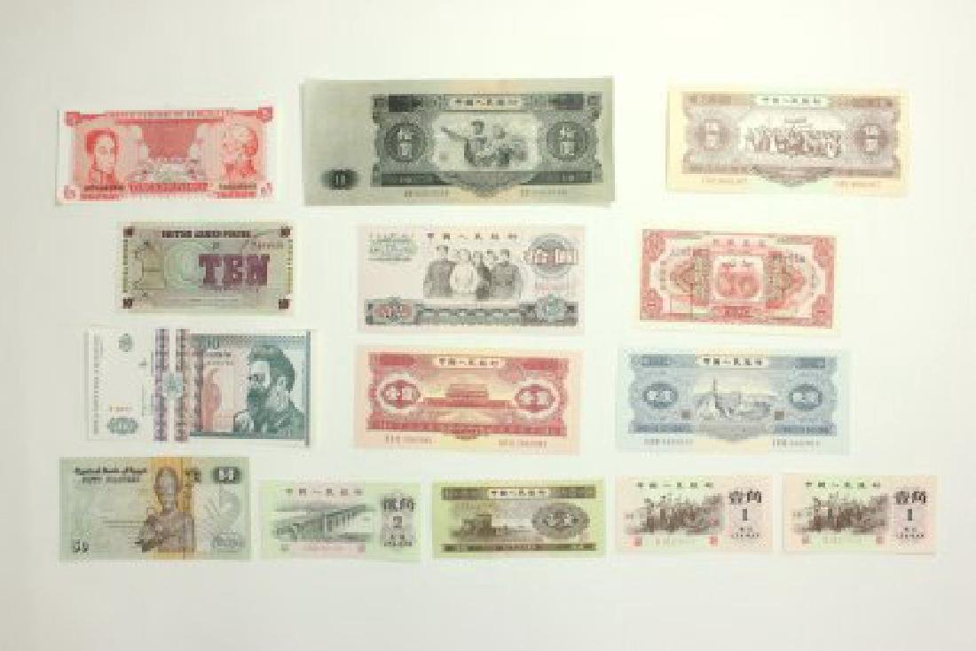 14 Pieces of World Currency