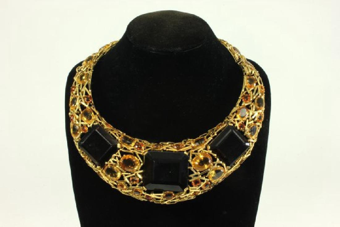 18K Gold Choker with Topaz