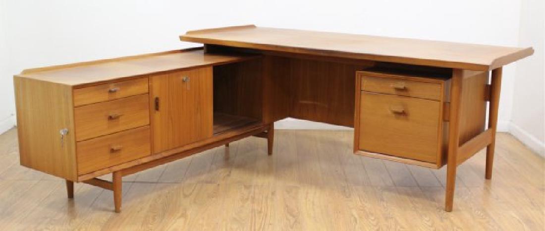 Arne Vodder Teak L-Shaped Desk