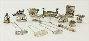 Group Sterling, Continental, & Asian Silver Items