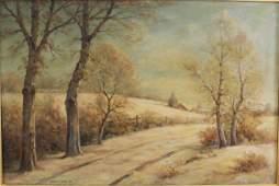 """Bruce Robert Crane, """"Winter Landscape"""""""