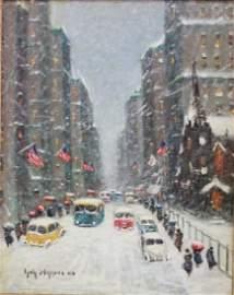 "Guy Carleton Wiggins, ""Snowy Day"""
