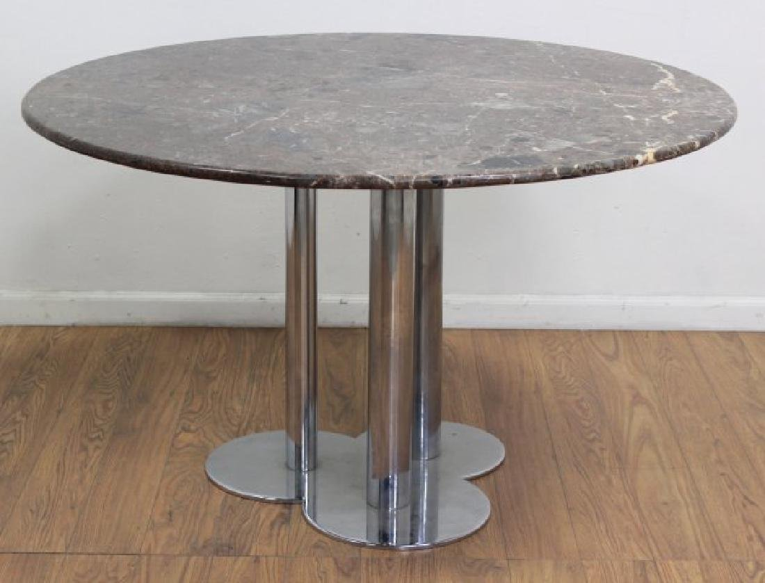 Sergio Asti Chrome & Marble Breakfast Table