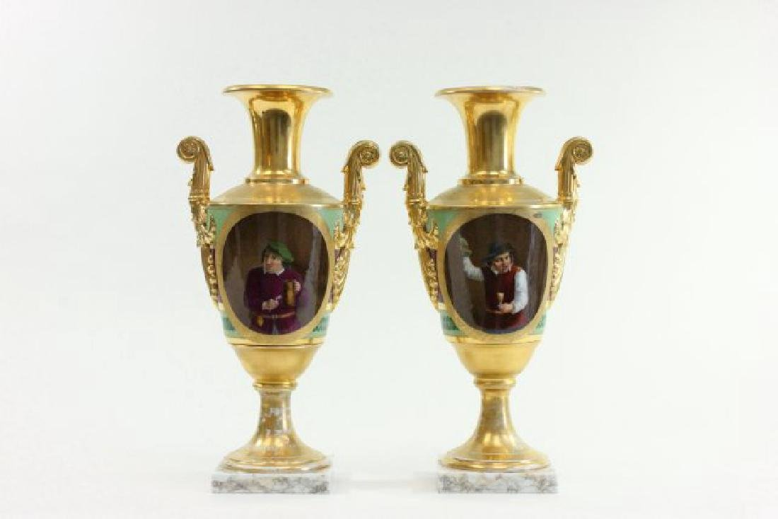 Pair Possibly Russian Porcelain Vases