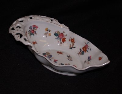 43: FLORAL & INSECT DECORATED BOWL