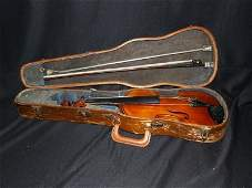 398: VIOLIN IN CASE WITH BOW