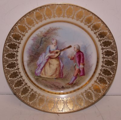 839A: SCENIC SEVRES PLATE