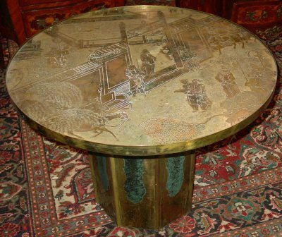 886: PHILIP LAVERNE  CHINESE MOTIF COFFEE TABLE