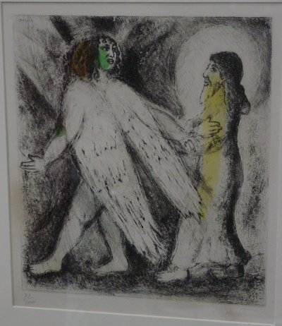 """1082: CHAGALL LITHOGRAPH BIBLE SERIES """"JESUS"""""""