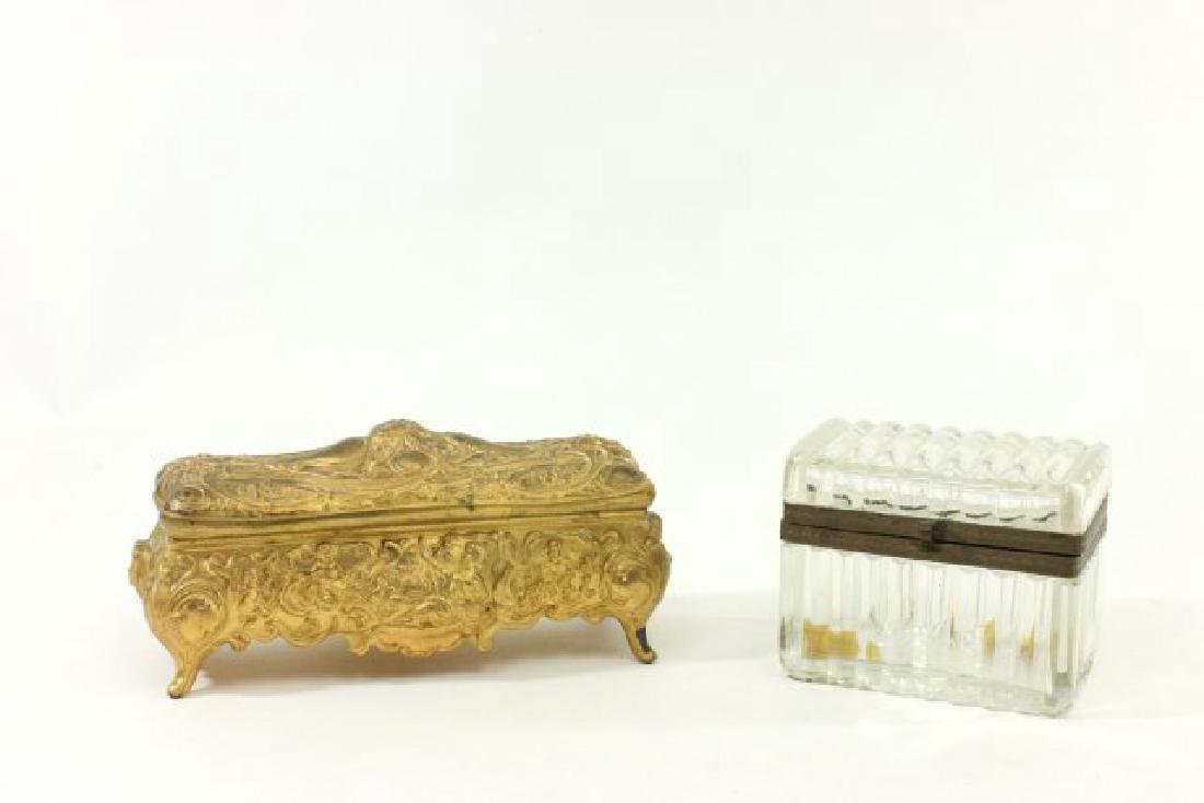 2 Cut Crystal Caskets