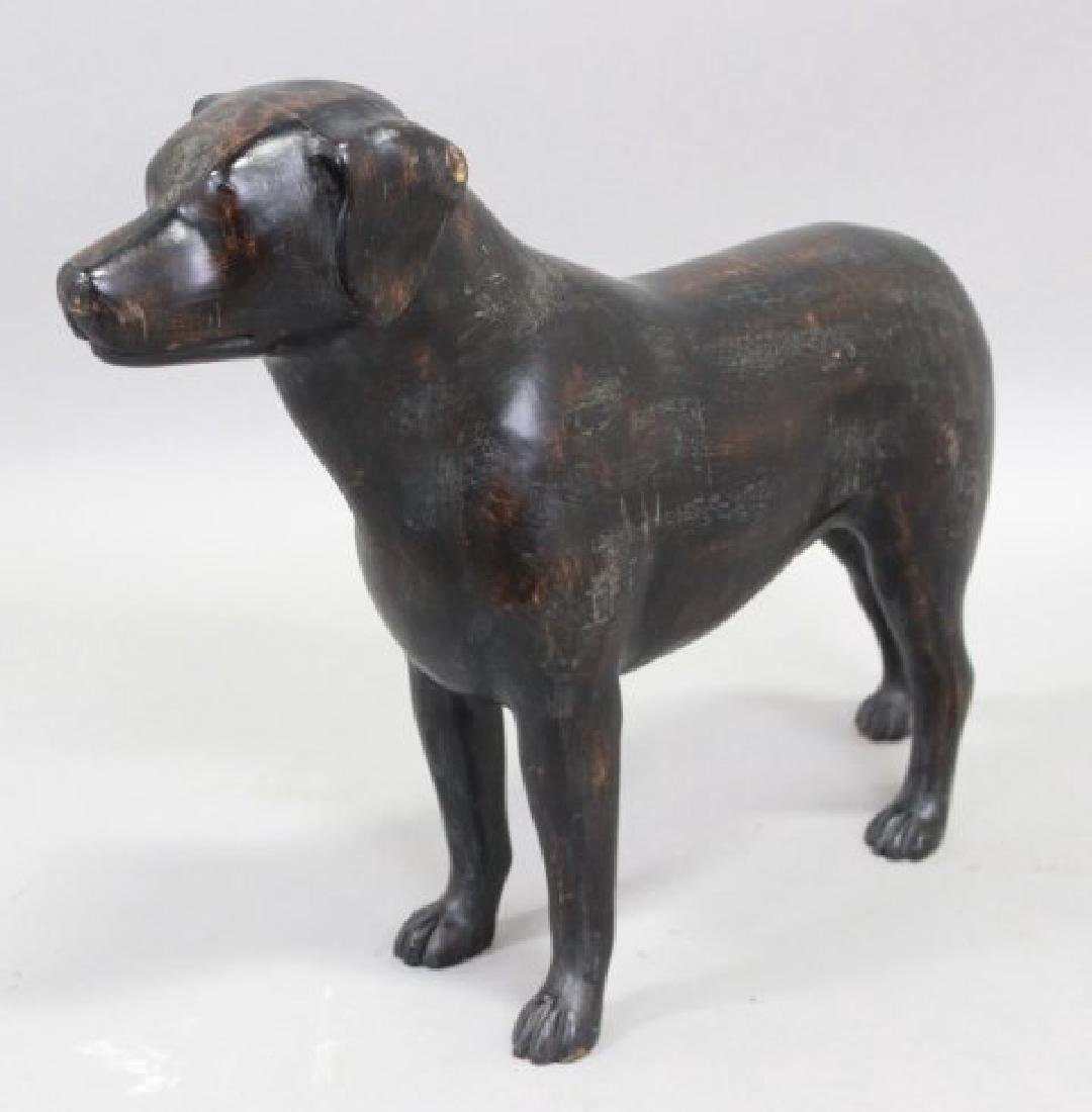 Carved Wood Dog