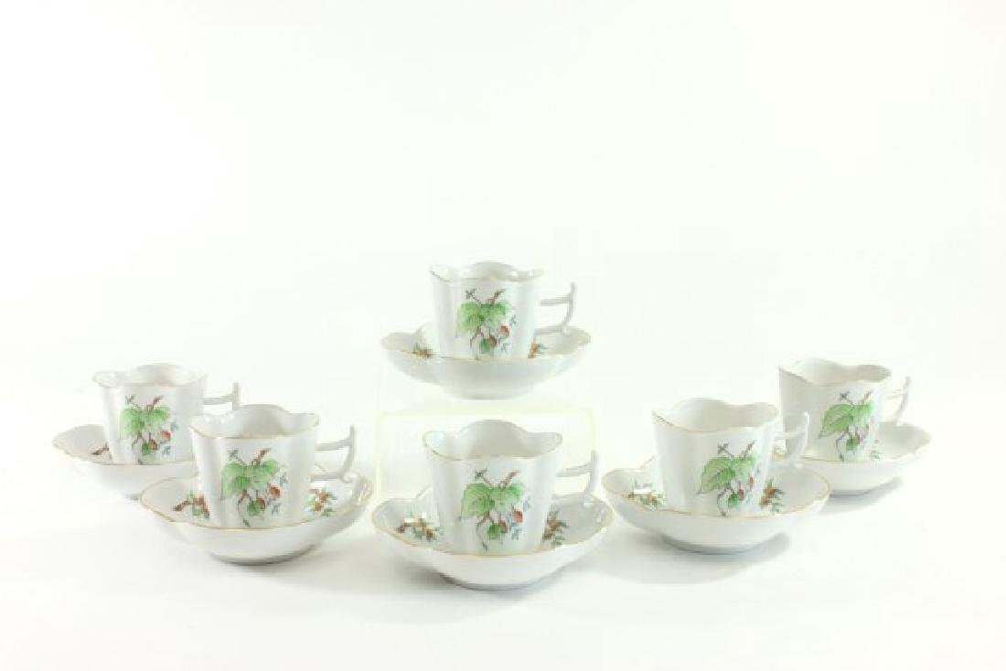 6-Piece Herend Demitasse Cups & Saucers