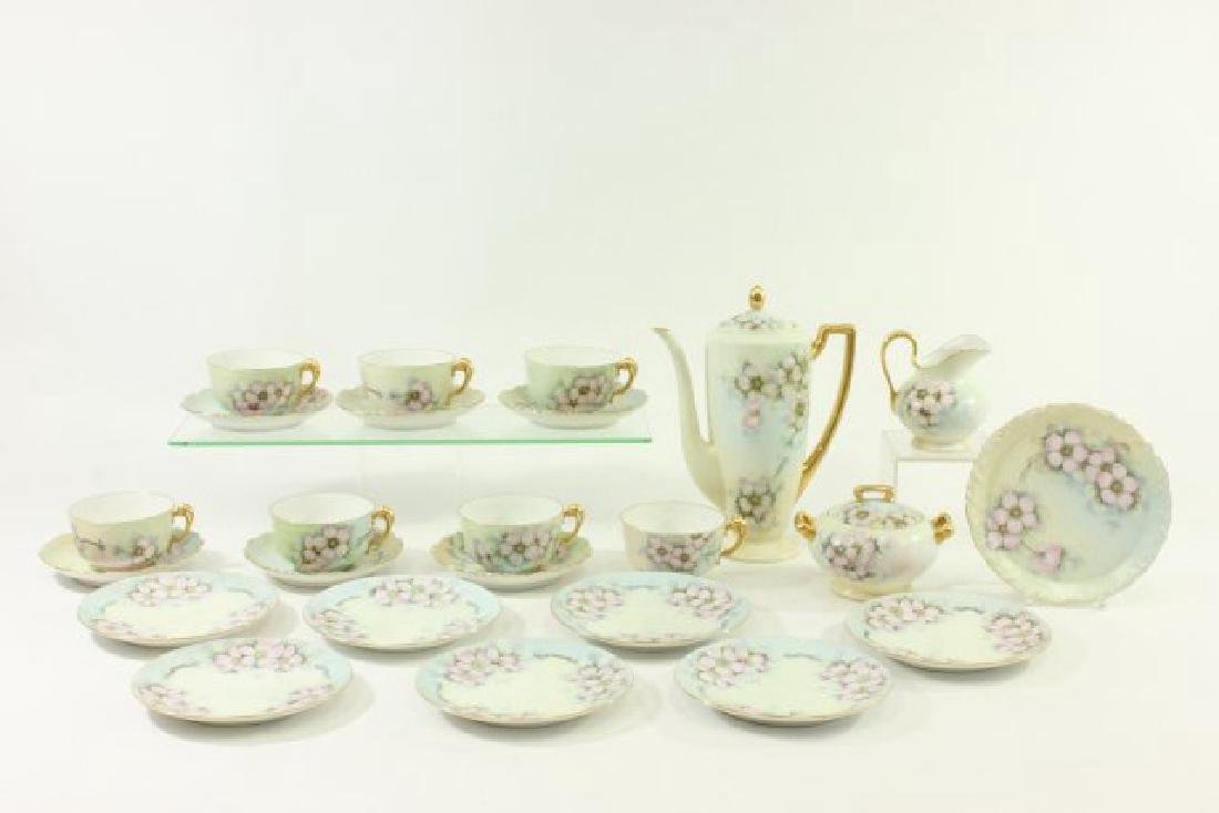Handpainted  Porcelain Matched Tea Set